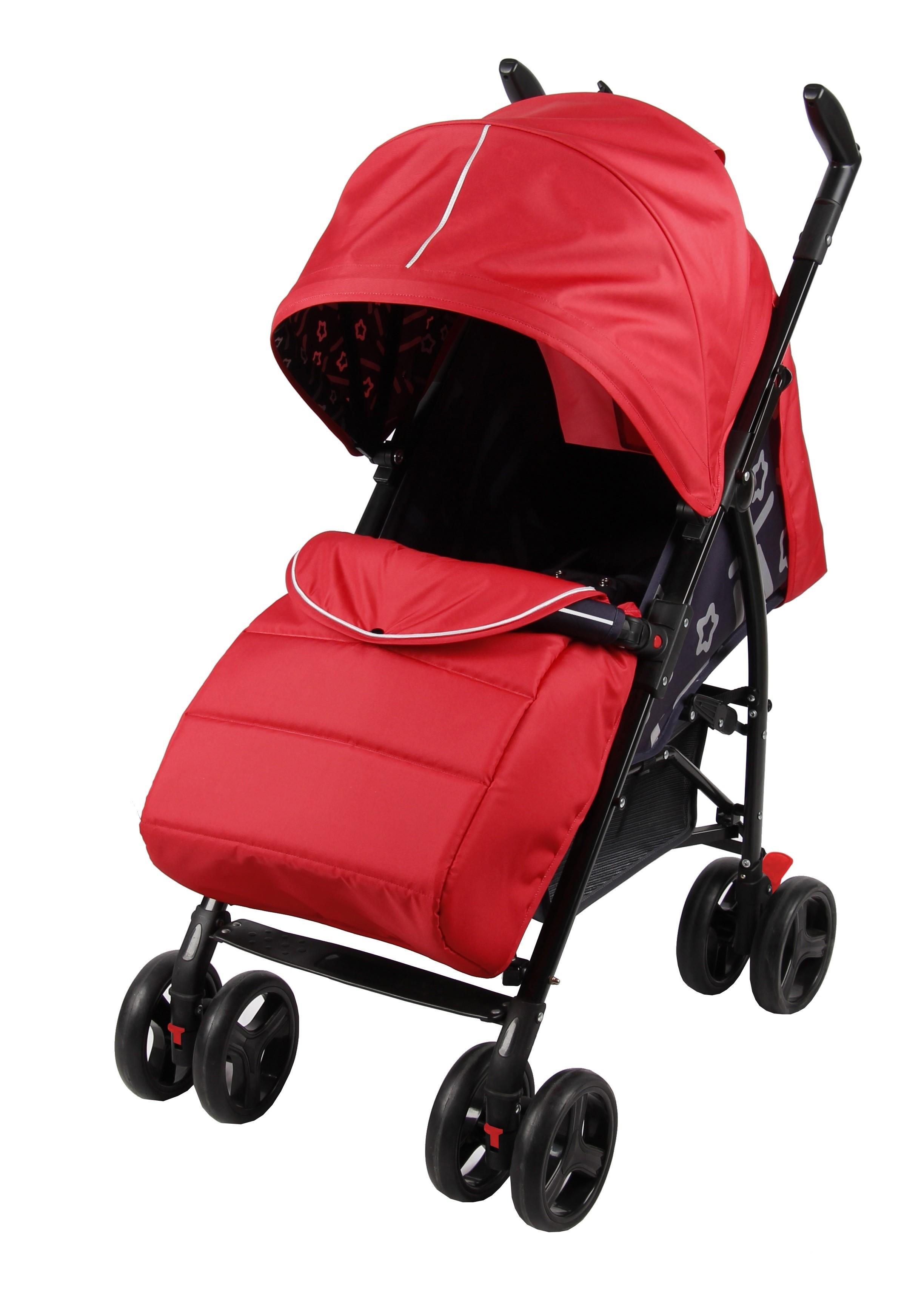 Прогулочная коляска Parusok Walker Pro красный