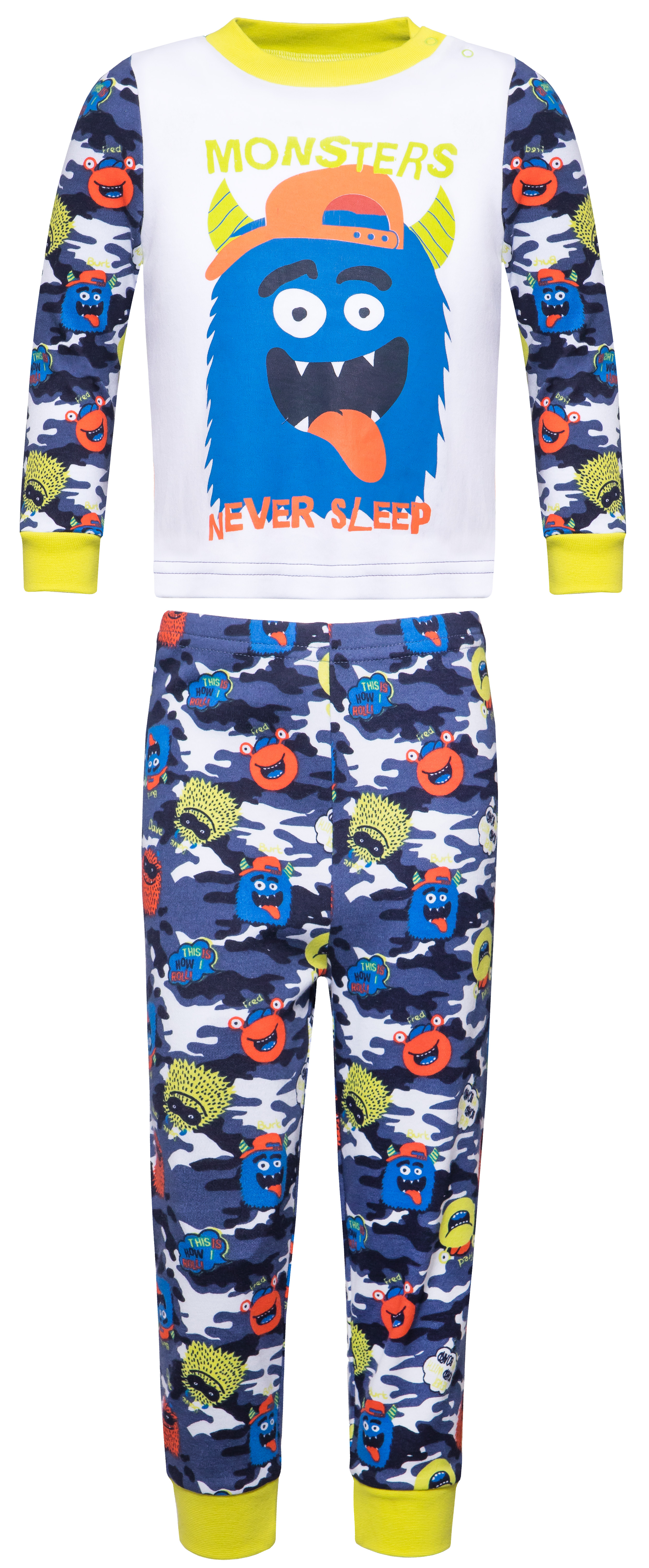 """Пижамы Barkito Пижама для мальчика Barkito """"Сновидения"""", белая с темно-синим пижамы и ночные сорочки lalababy пижама для мальчика длинный рукав кофточка и штанишки little men"""