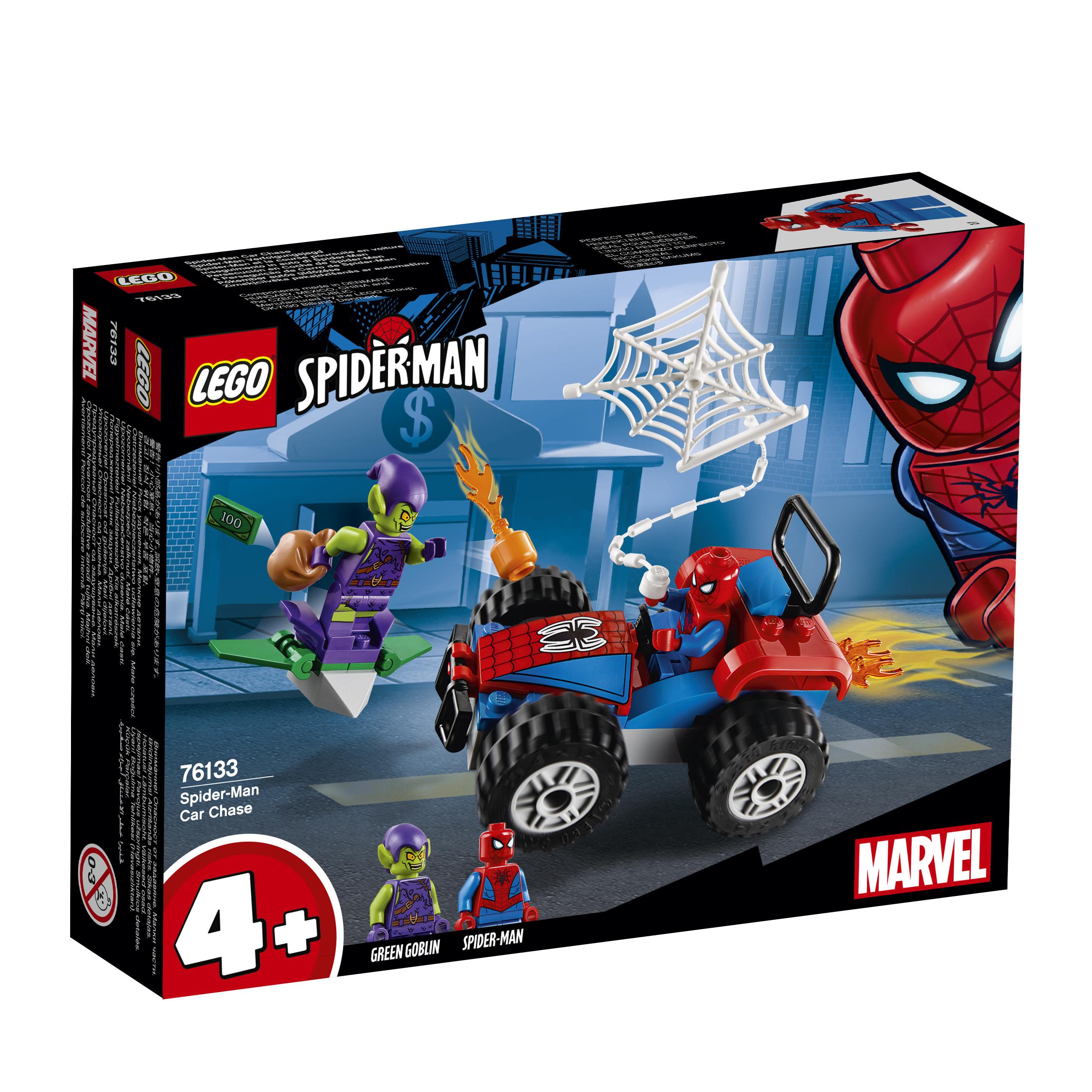 Конструктор LEGO Super Heroes 76133 Автомобильная погоня Человека-паука цена