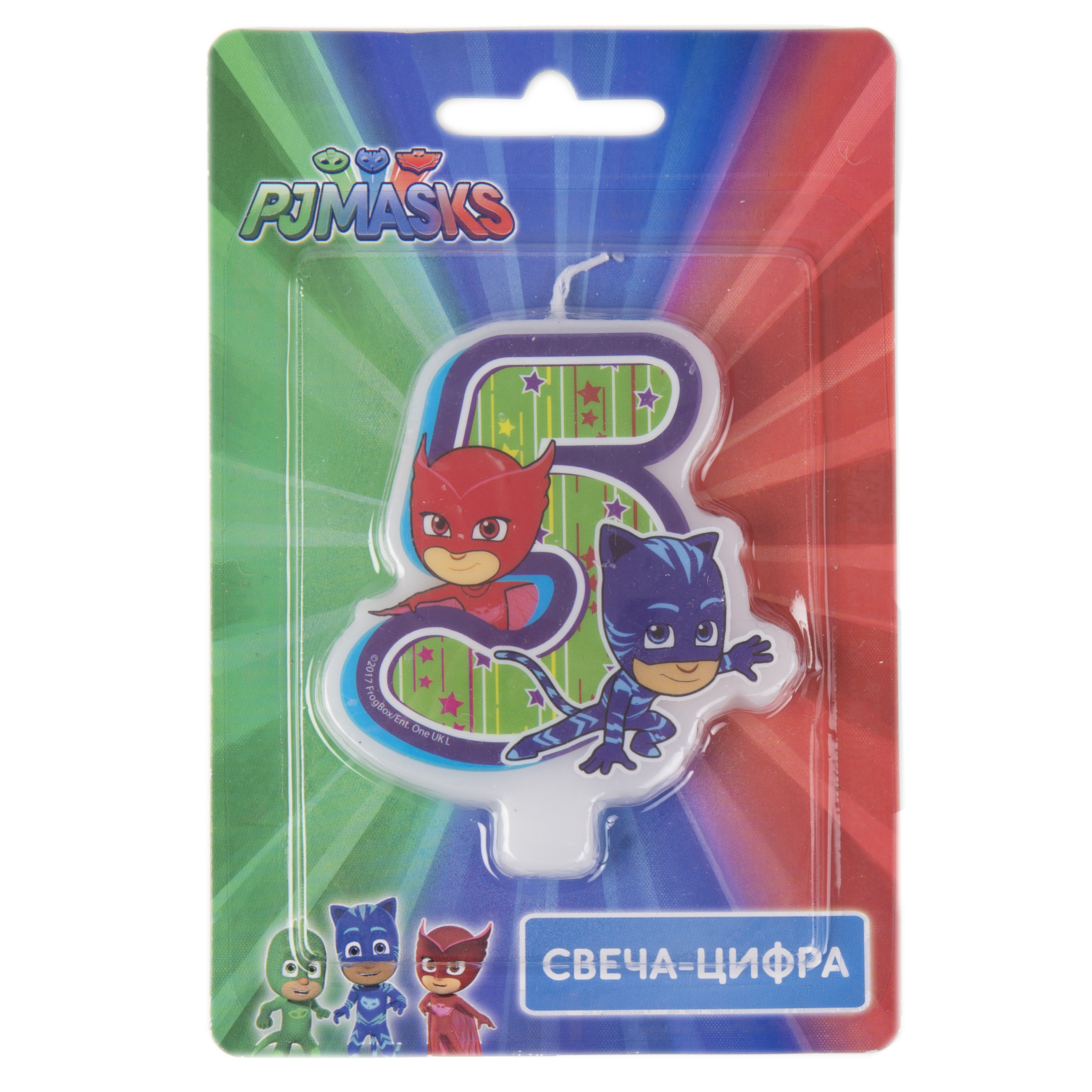 Декор PJ Masks Герои в масках. Цифра 5 3 new designs 7 5 9 5cm pj characters catboy owlette gekko cloak masks action figure toys boy birthday xmas gift plastic dolls