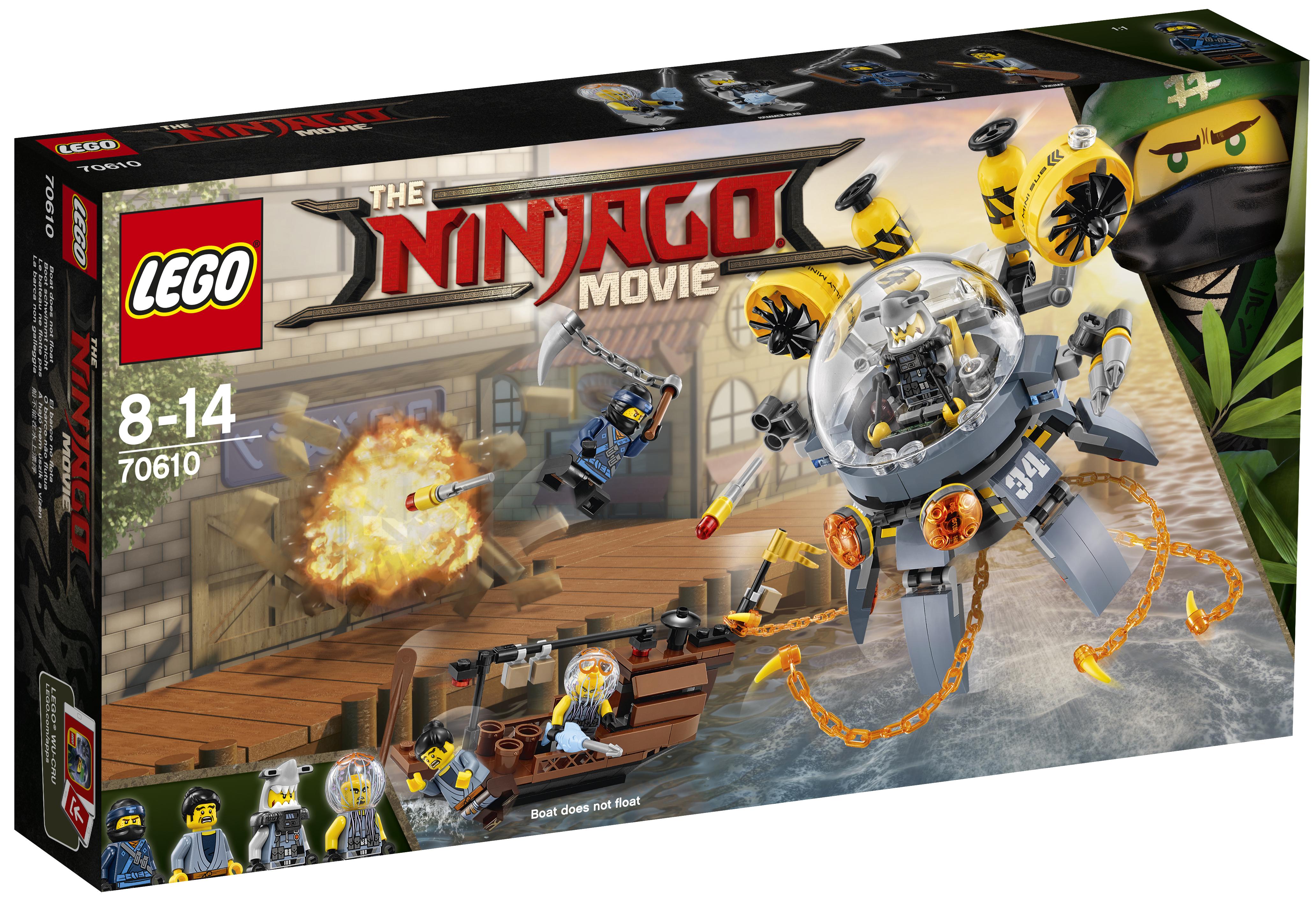 LEGO LEGO Конструктор LEGO Ninjago 70610 Летучая субмарина «Медуза»