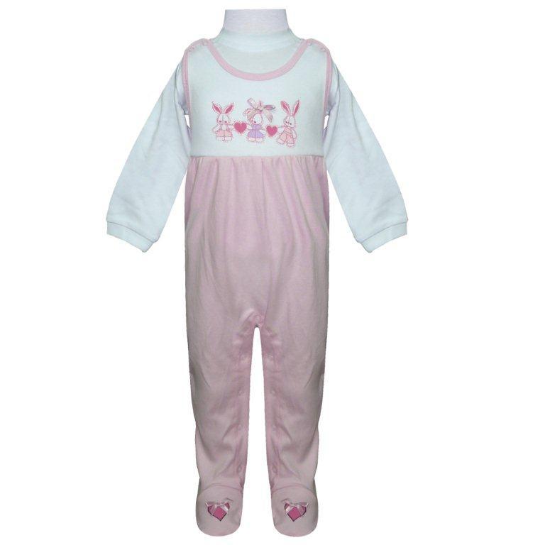 Первые вещи новорожденного Barkito Полукомбинезон, футболка дл. рукав Домашний очаг розовый футболка длинный рукав