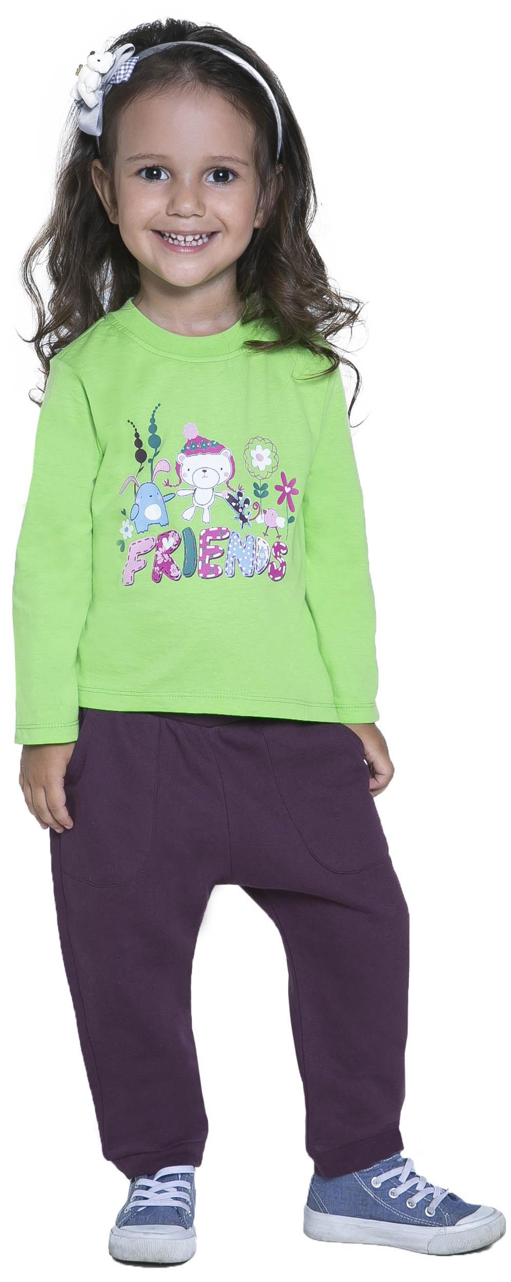 Футболка с длинным рукавом для девочки Barkito Друзья 1 футболка с длинным рукавом barkito солнечный берег 1