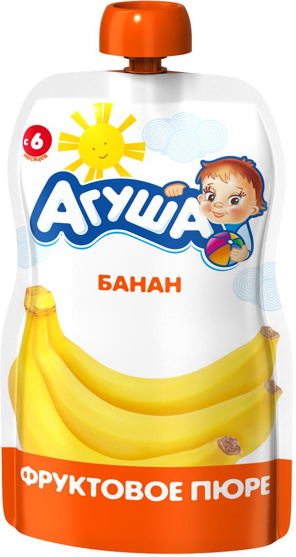 Пюре Агуша Пюре Агуша банан (с 6 месяцев) 90 г агуша пюре мясное агуша говядина 6 2