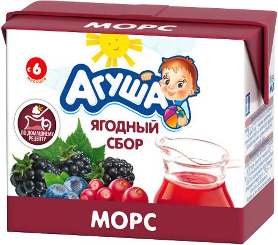 Фото Напитки Агуша Морс Агуша «Ягодный сбор» с 8 мес. 200 мл