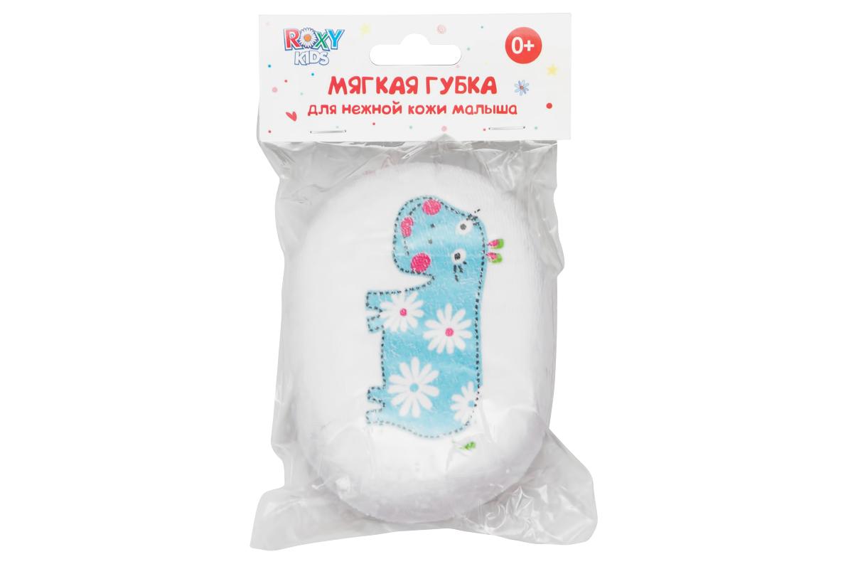 Губка для купания Roxy-kids с хлопковым покрытием