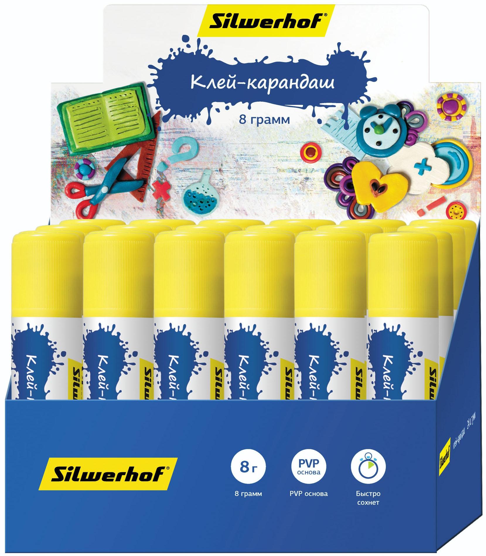 Клей-карандаш Silwerhof Пластилиновая коллекция 15 г цена 2017