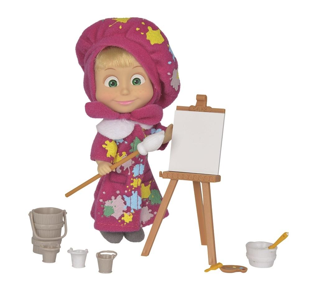 Кукла simba Маша художница кукла simba маша в одежде художницы с набором для рисования 12 см