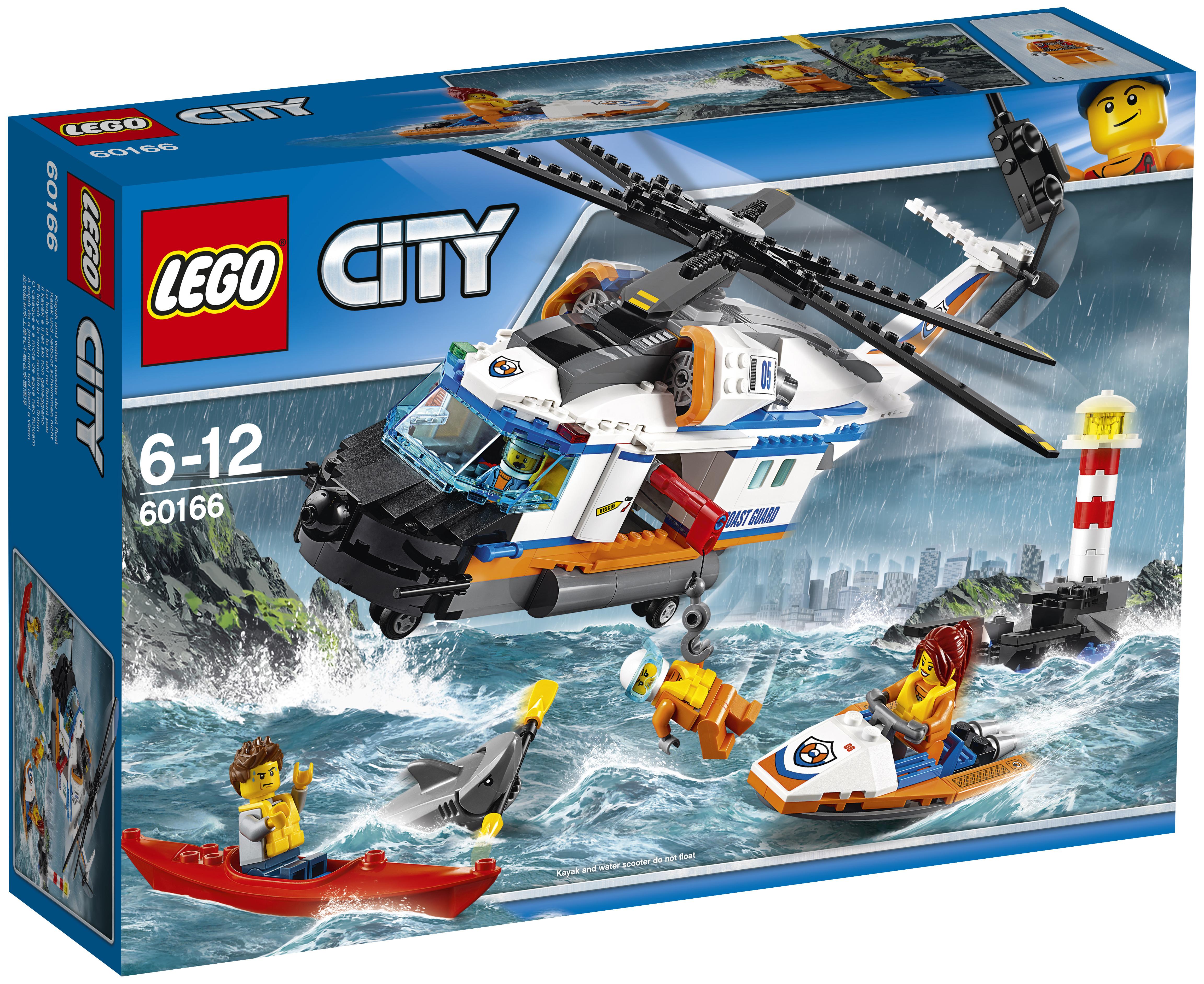 LEGO LEGO Конструктор LEGO City Coast Guard 60166 Сверхмощный спасательный вертолёт lego lego city 60080 космодром