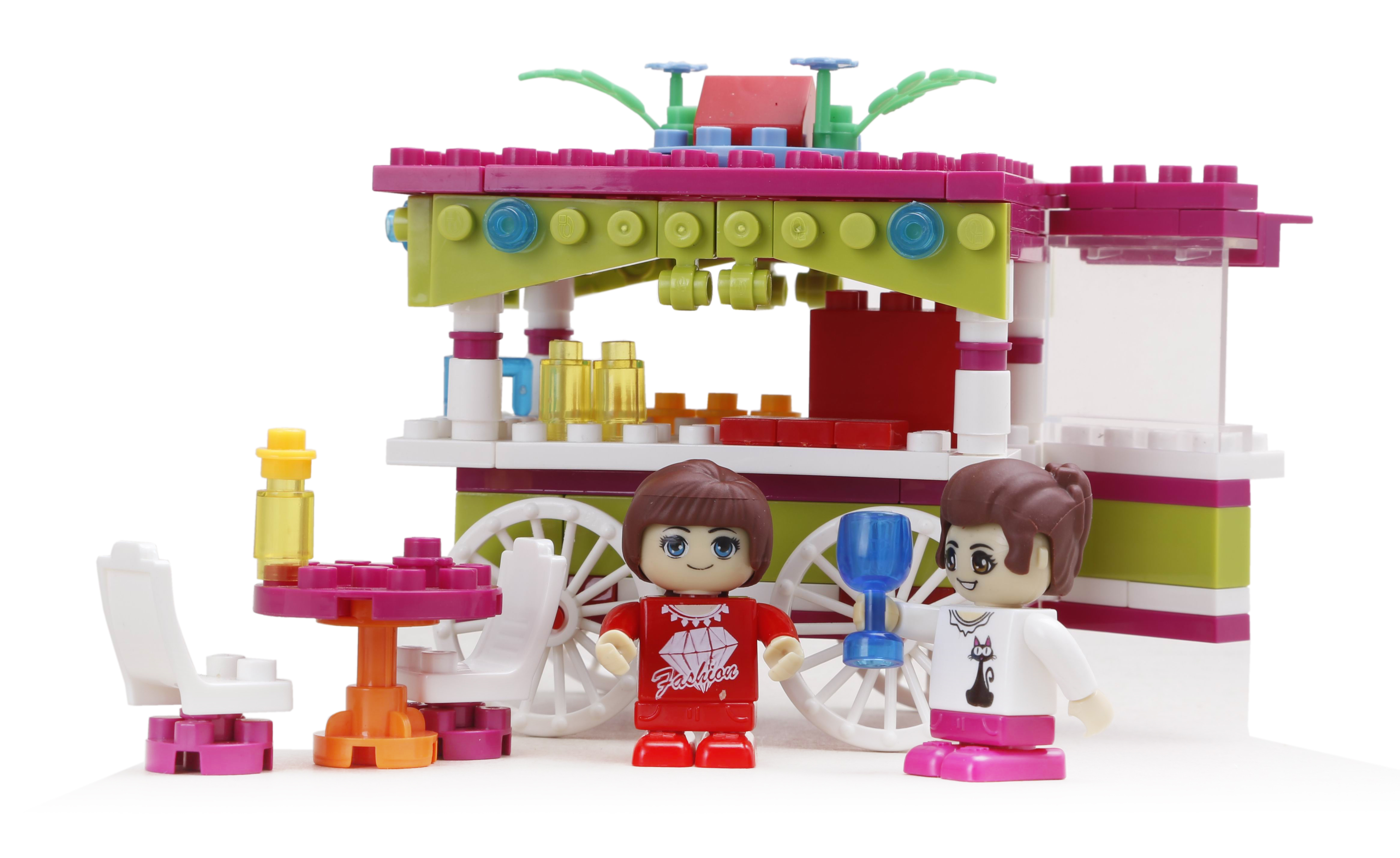 Конструктор Banbao Кафе на колесах конструктор banbao летний дом с 5 фигурками 425 детали 6105