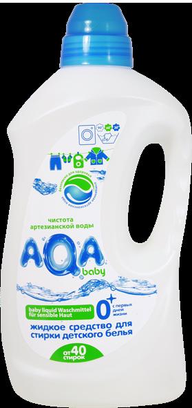 Жидкое средство для стирки детского белья AQA baby 15 л жидкое средство для стирки детского белья burti baby 1 5 л