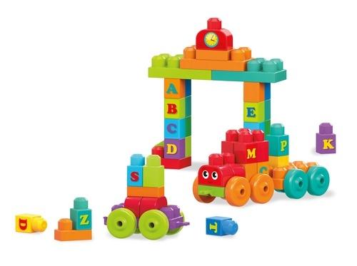 Конструкторы для малышей Mega Bloks Конструктор Mega Bloks «Обучающий поезд» 60 дет. алфавит конструктор lepin creators грузовой поезд маерск 1234 дет 21006