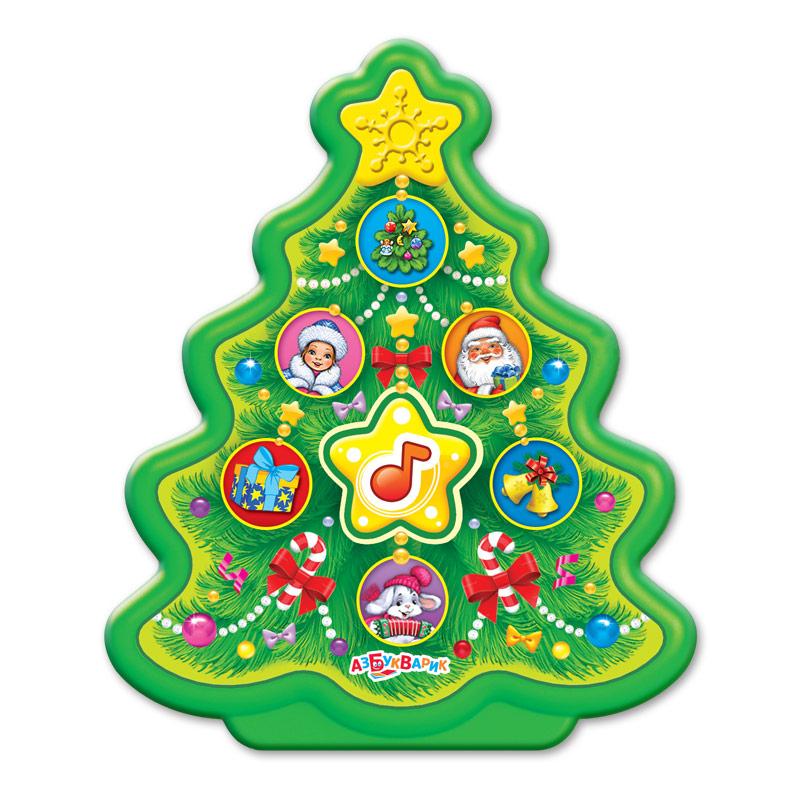 Купить Развивающие игрушки, Новогодние игрушки: Елочка, Азбукварик, Китай, green