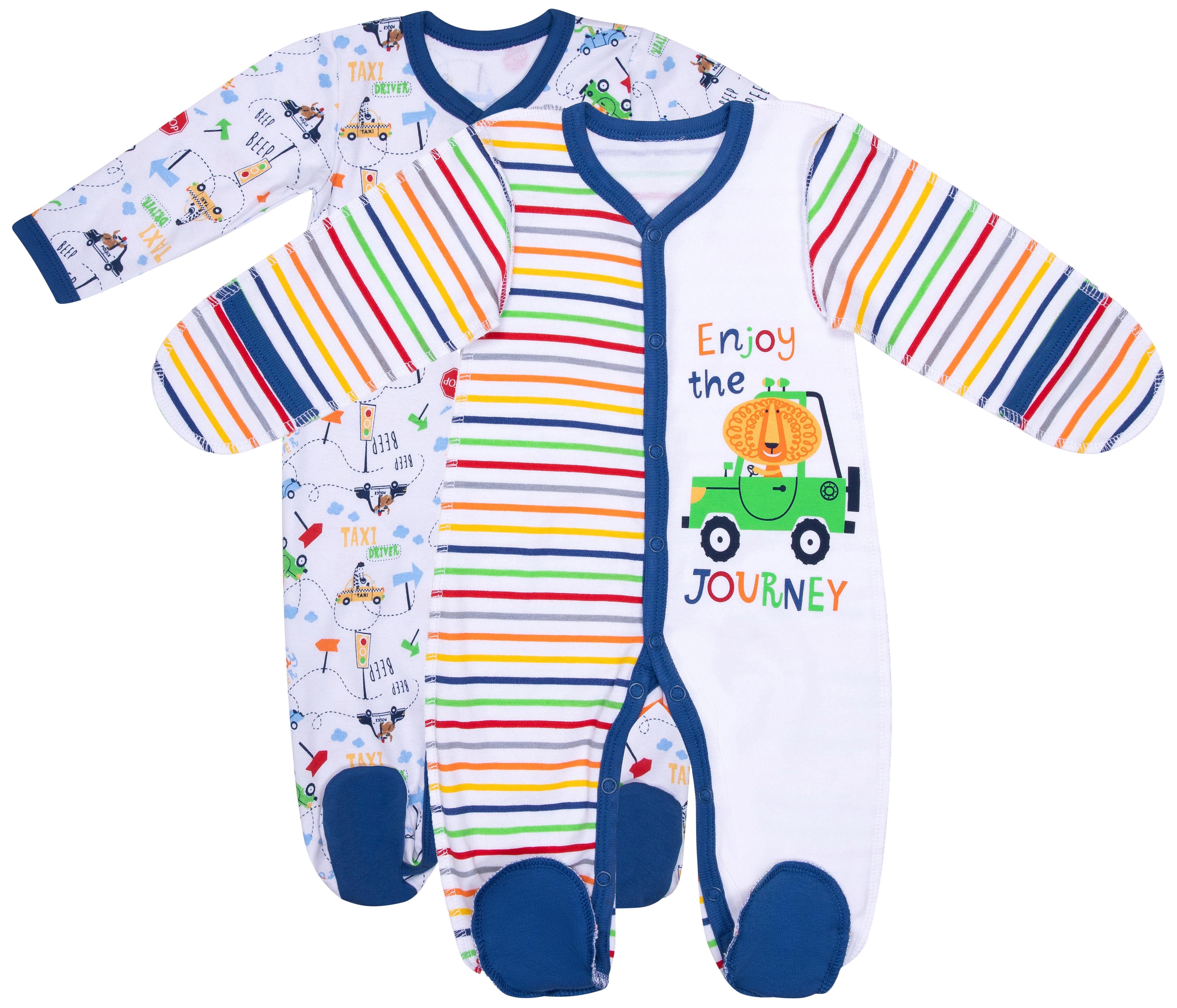 Купить Первые вещи новорожденного, Зверята белый/синий, Barkito, Россия