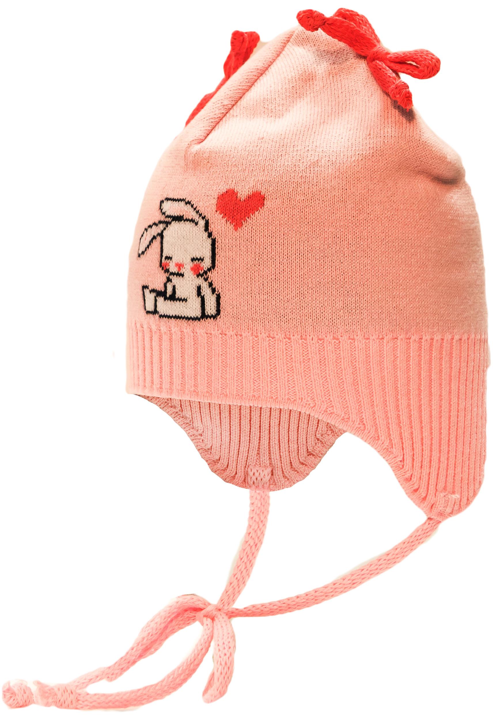 Купить Головные уборы, Шапка (ушанка) на завязках для девочки Barkito, светло-розовая, Россия, светло-розовый, Женский
