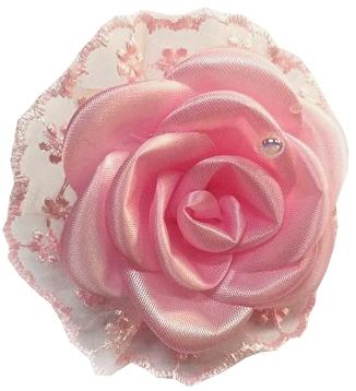 Бант для волос Funny Bunny Розовое кружево