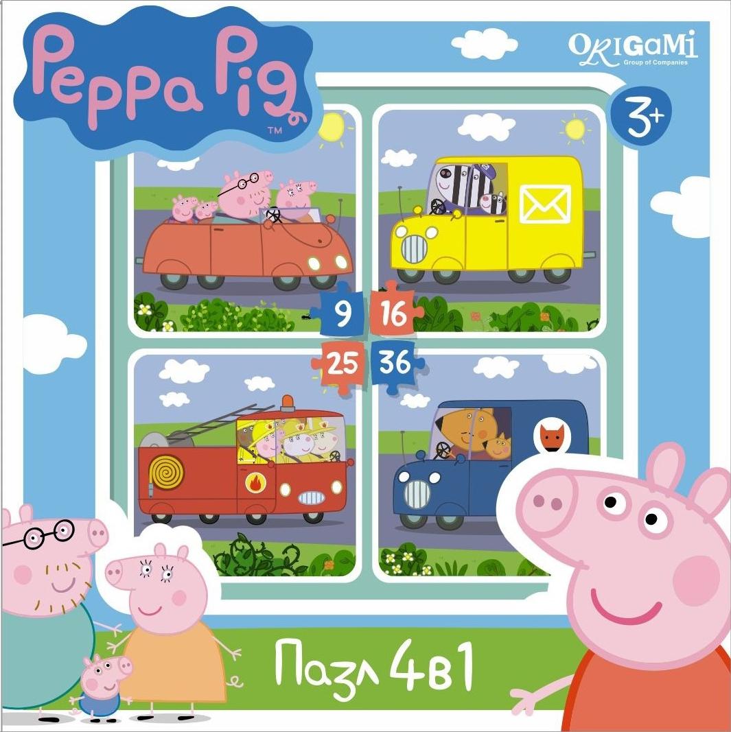 Peppa Pig Peppa Pig Транспорт обучающий набор origami peppa pig 4 в 1