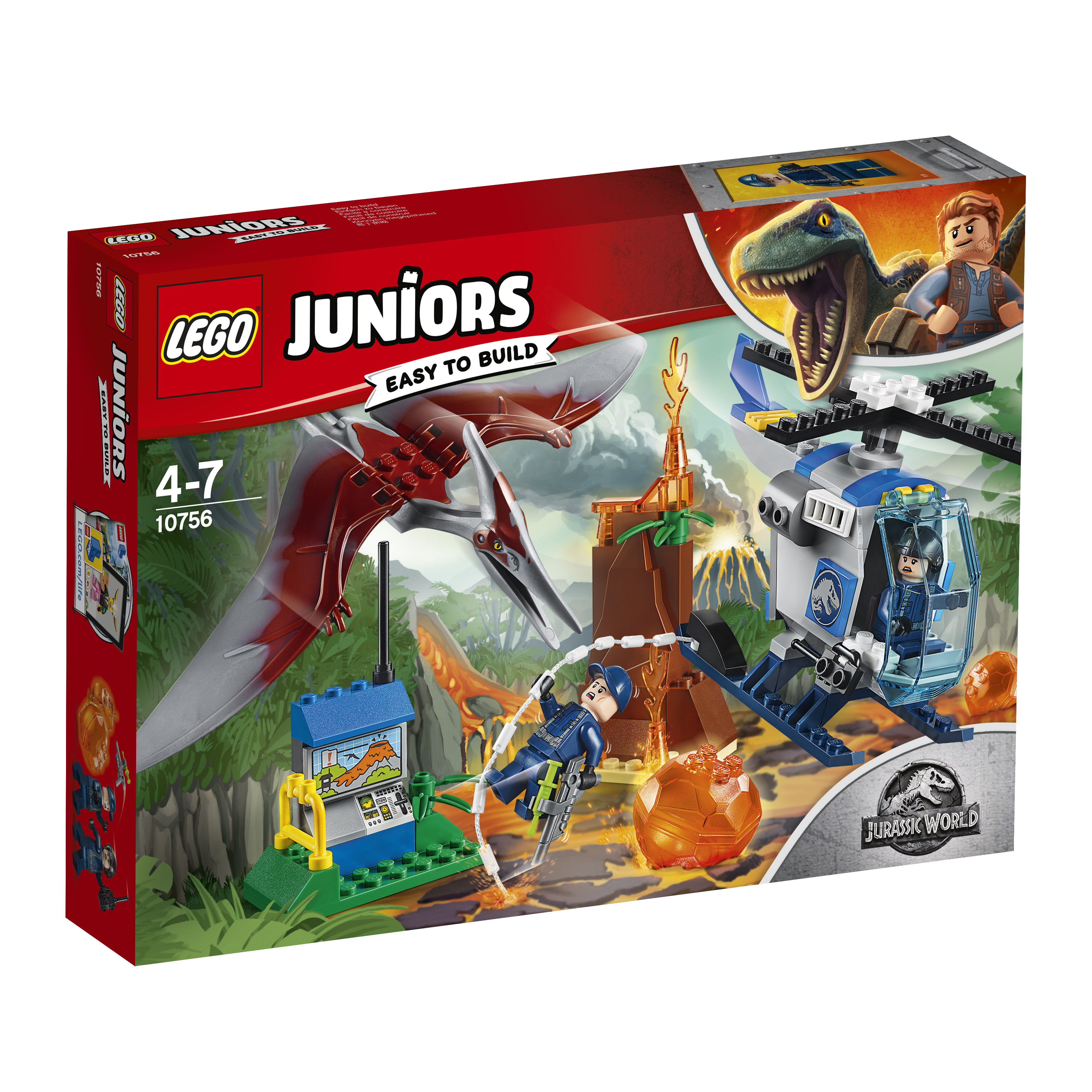 Конструктор LEGO Juniors 10756 Побег птеранодона lego juniors конструктор побег птеранодона