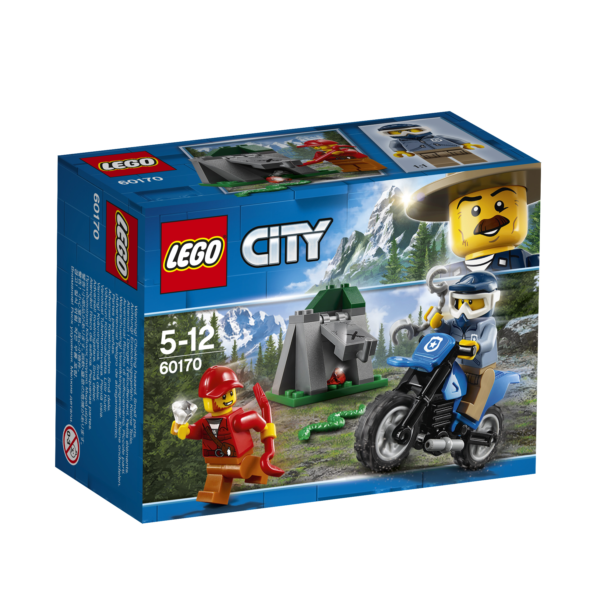 Конструктор LEGO City Police 60170 Погоня на внедорожниках model building kits compatible with lego city police car boat water patrolcity 3d blocks educational model building toys hobbies