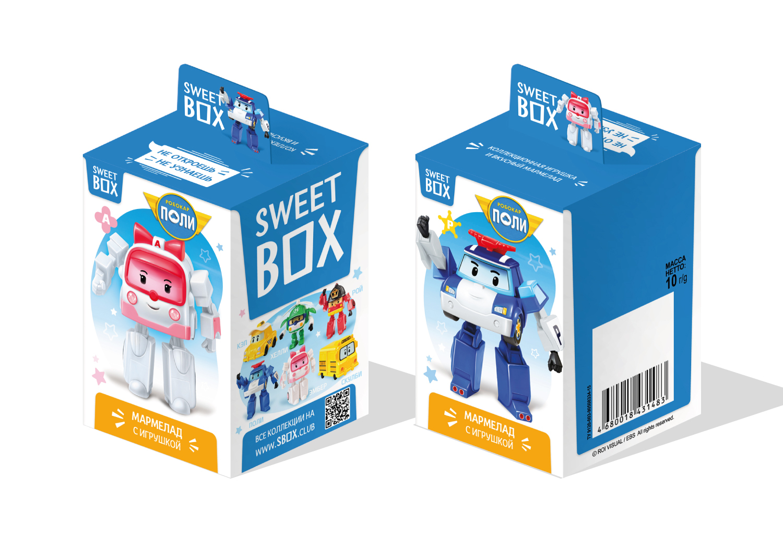 Мармелад с игрушкой Sweet box Робокар Поли 10 г