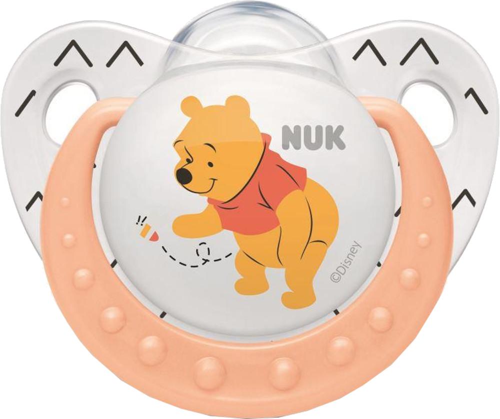 Пустышка NUK Trendline Disney ортодонтическая с рождения пустышка nuk trendline disney латексная от 0 месяцев 10725876 оранжевый