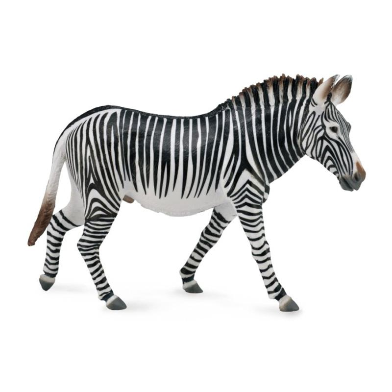 Фигурки животных Collecta Фигурка Collecta «Зебра Греви» 13 см цены онлайн
