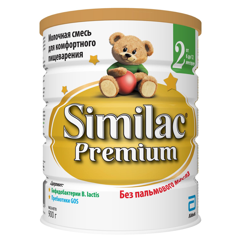 Молочная смесь Similac Similac (Abbott) Premium 2 от 6 до 12 месяцев 900 г связать конверт для малыша от 0 до 6 месяцев спицами