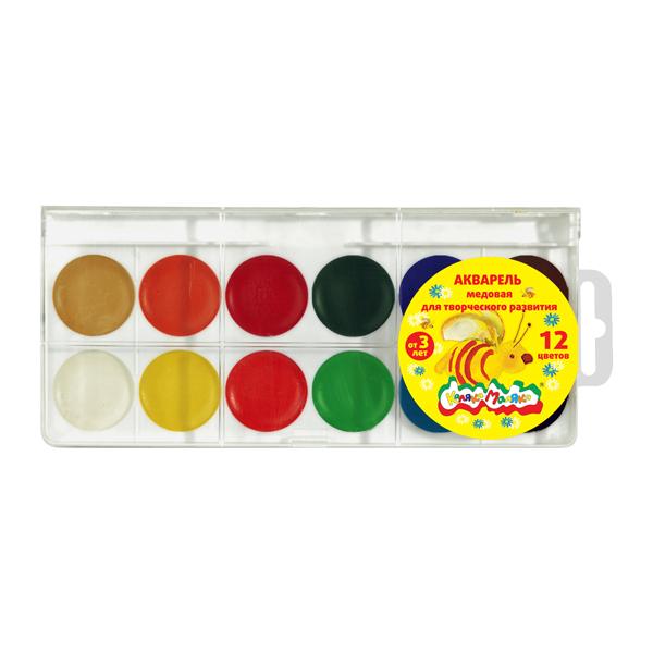 Краски Каляка-Маляка Акварель АККМ12 ручки и карандаши каляка маляка карандаши пластиковые каляка маляка 12 цветов