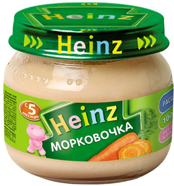 Пюре Heinz Heinz Морковочка (с 5 месяцев) 80 г пюре heinz чернослив с 5 мес 80 г
