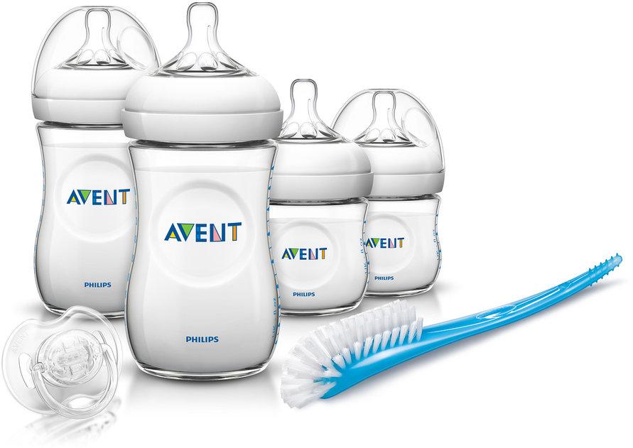 Бутылочки Philips AVENT для новорожденных серии Natural