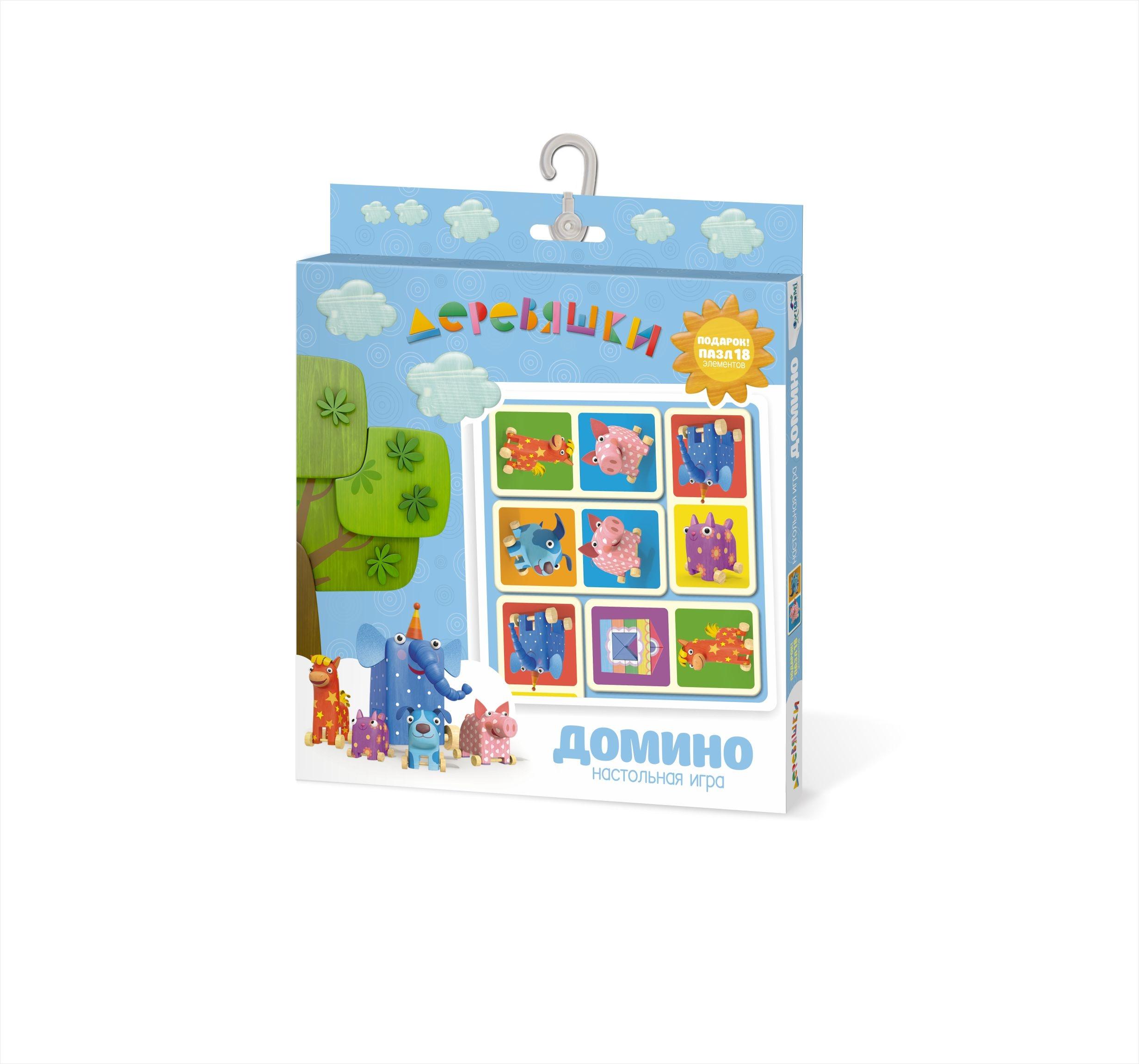 Настольная игра Origami Деревяшки. Домино 04532 настольная игра стратегическая origami миллионер юниор 00110