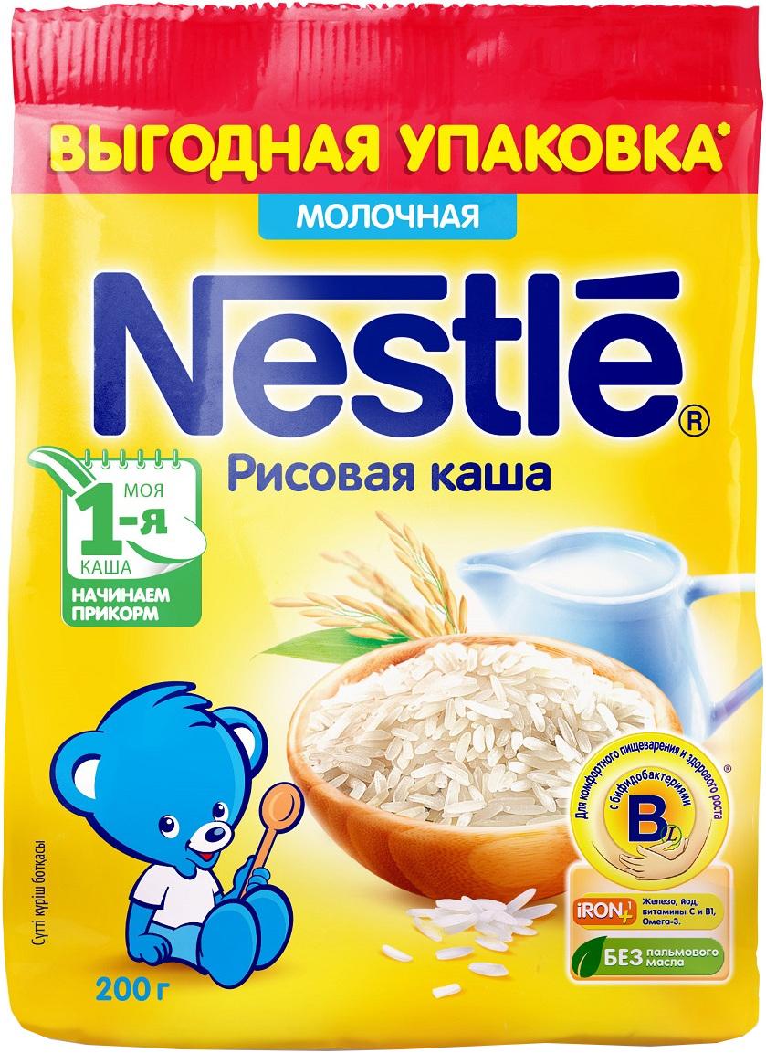 Молочные Nestle Каша молочная Nestle рисовая с 4 мес. 200 г каши беллакт молочная рисовая каша с 4 мес 200 г