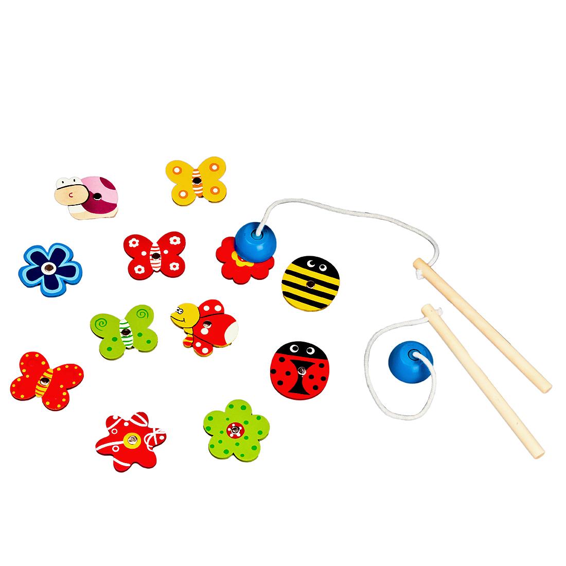 Деревянные игрушки Mapacha Ловим бабочек деревянные игрушки mapacha игровой набор mapacha забей шарик