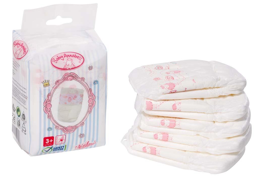 Одежда для кукол Baby Annabell Памперсы для куклы Baby Annabell 5 шт. аксессуары для кукол zapf игрушка baby annabell памперсы