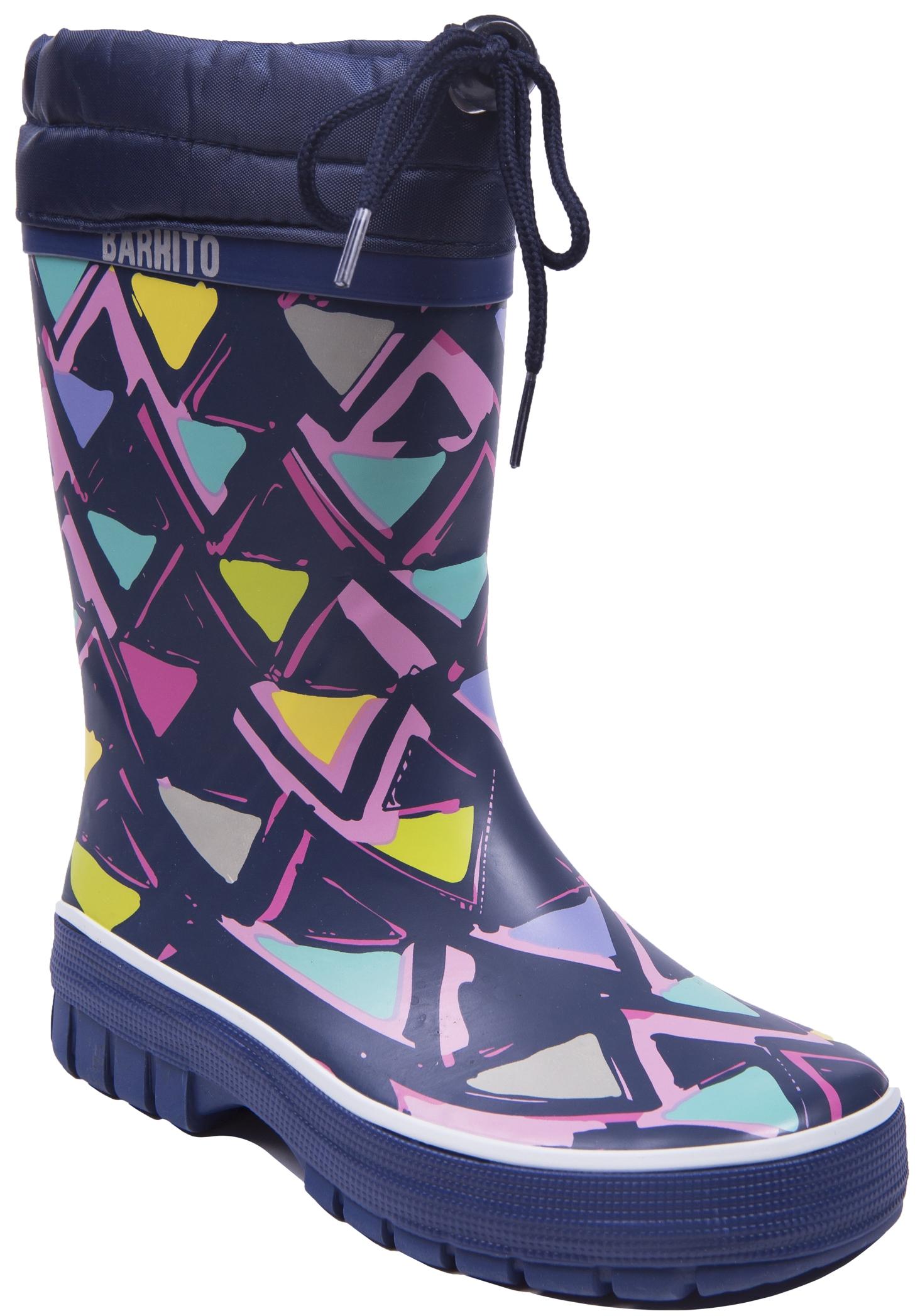 Фото - Резиновые сапоги Barkito Сапоги для девочки Barkito, синие обувь на высокой платформе dkny