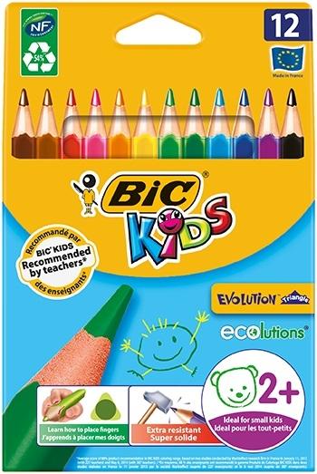Цветные карандаши BIC Эво Триенжел ручки и карандаши bic эво триенжел