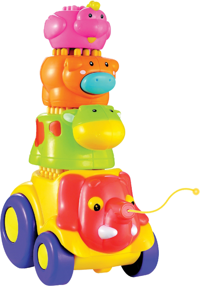 Игрушки-каталки FUN FOR KIDS Каталка Fun For Kids «Веселые слоники» в асс. inflatable biggors commercial bounce house slide for kids jumping castle play amusment park for rental fun gift