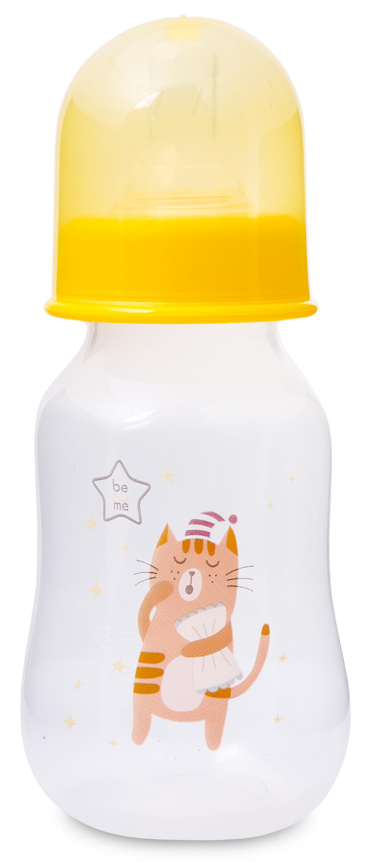 Бутылочка Be2Me С силиконовой соской с рождения 125 мл желтая avent бутылочка для кормления 125 мл