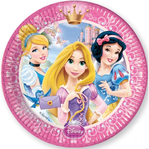 Тарелки Procos Принцессы Дисней - Сказочный мир 20 см 8 шт. procos свечи буквы принцессы disney сказочный мир happy birthday