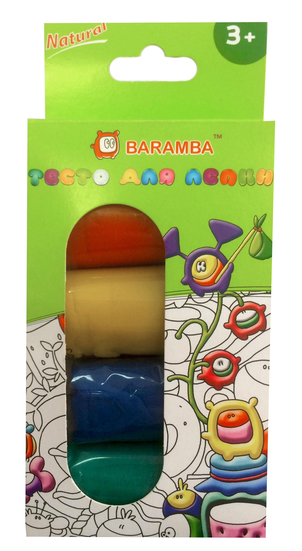 Тесто-пластилин Baramba 4 цвета тесто пластилин 4 цвета 254гр