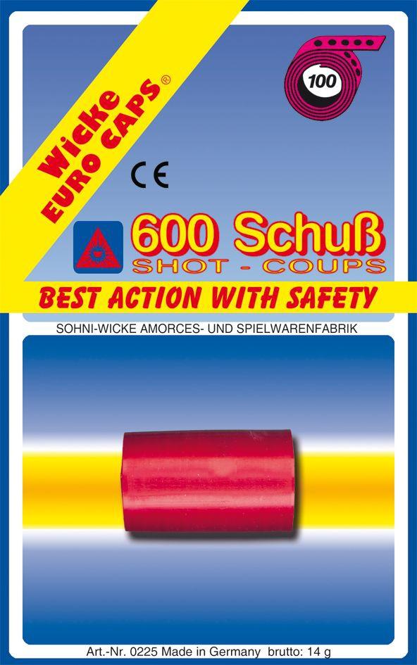 Набор пистонов SOHNI-WICKE 100-зарядные, 600 шт.
