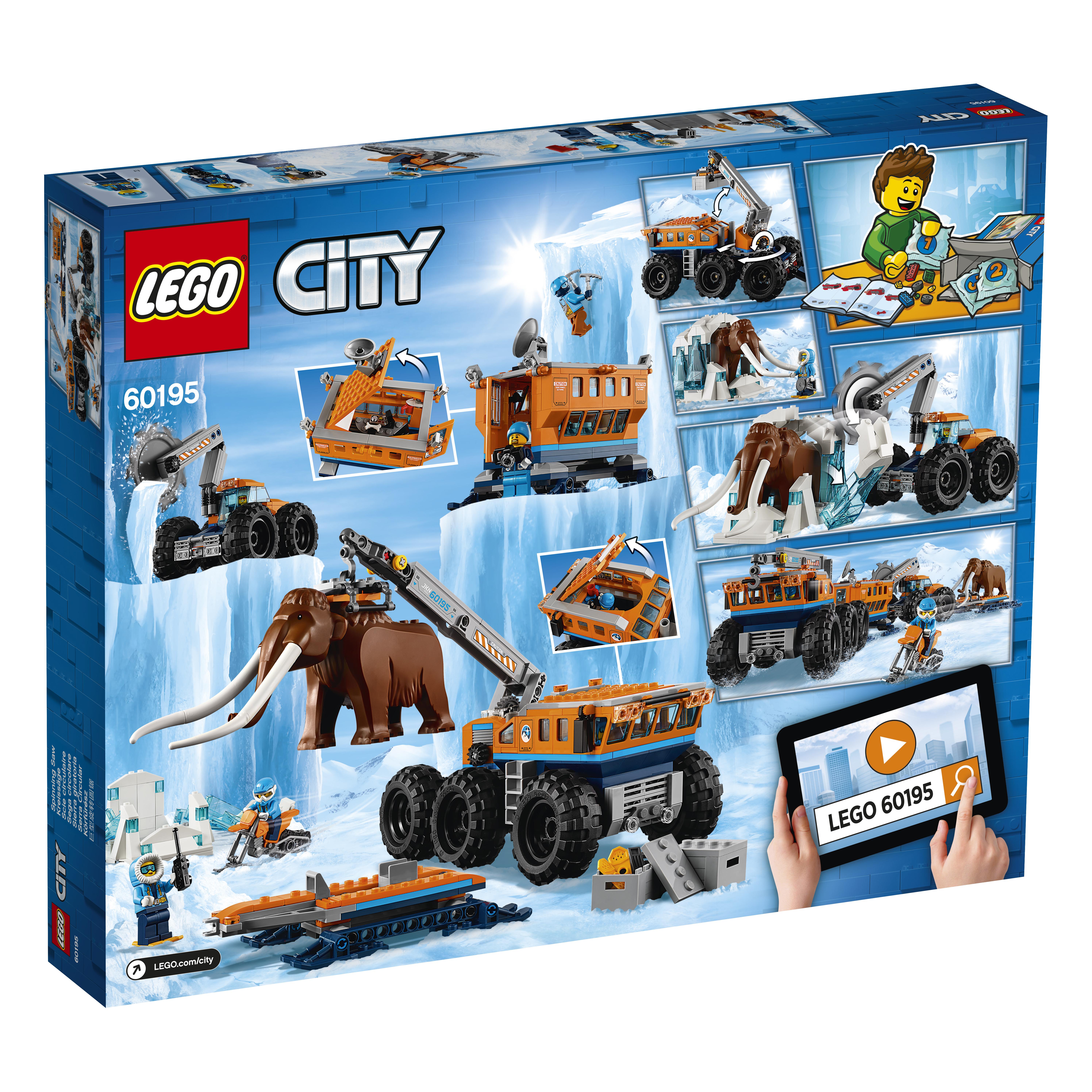 LEGO LEGO Конструктор LEGO City Arctic Expedition 60195 Передвижная арктическая база lego lego city 60080 космодром