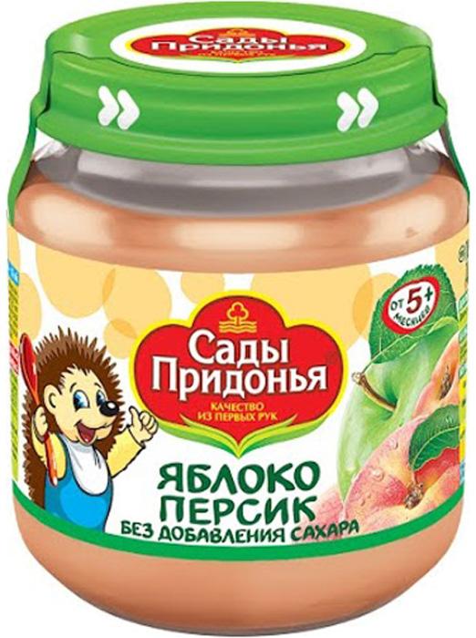 Пюре Сады Придонья Сады Придонья Яблоко-персик с 5 мес. 120 г цены