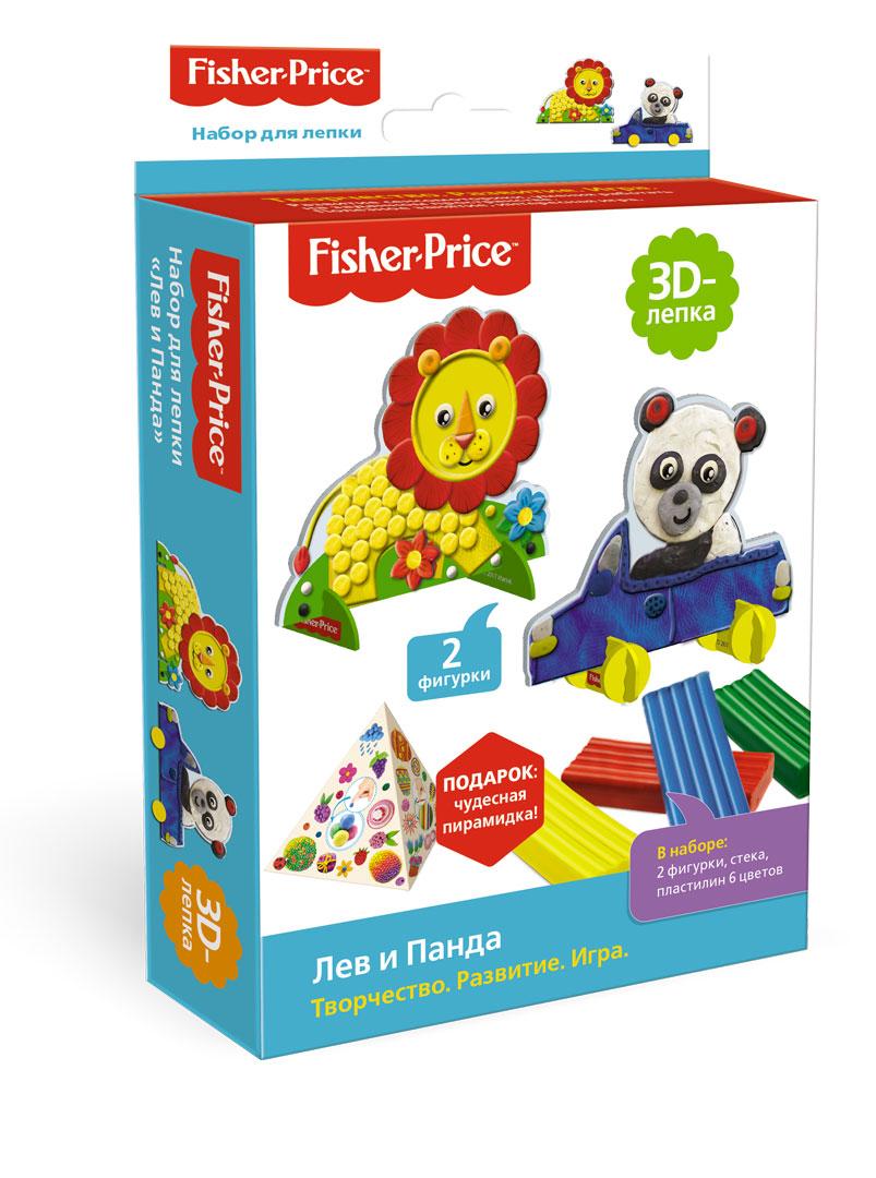 Лепка из глины Fisher Price Набор для лепки Fisher-Price «Лев и Панда»
