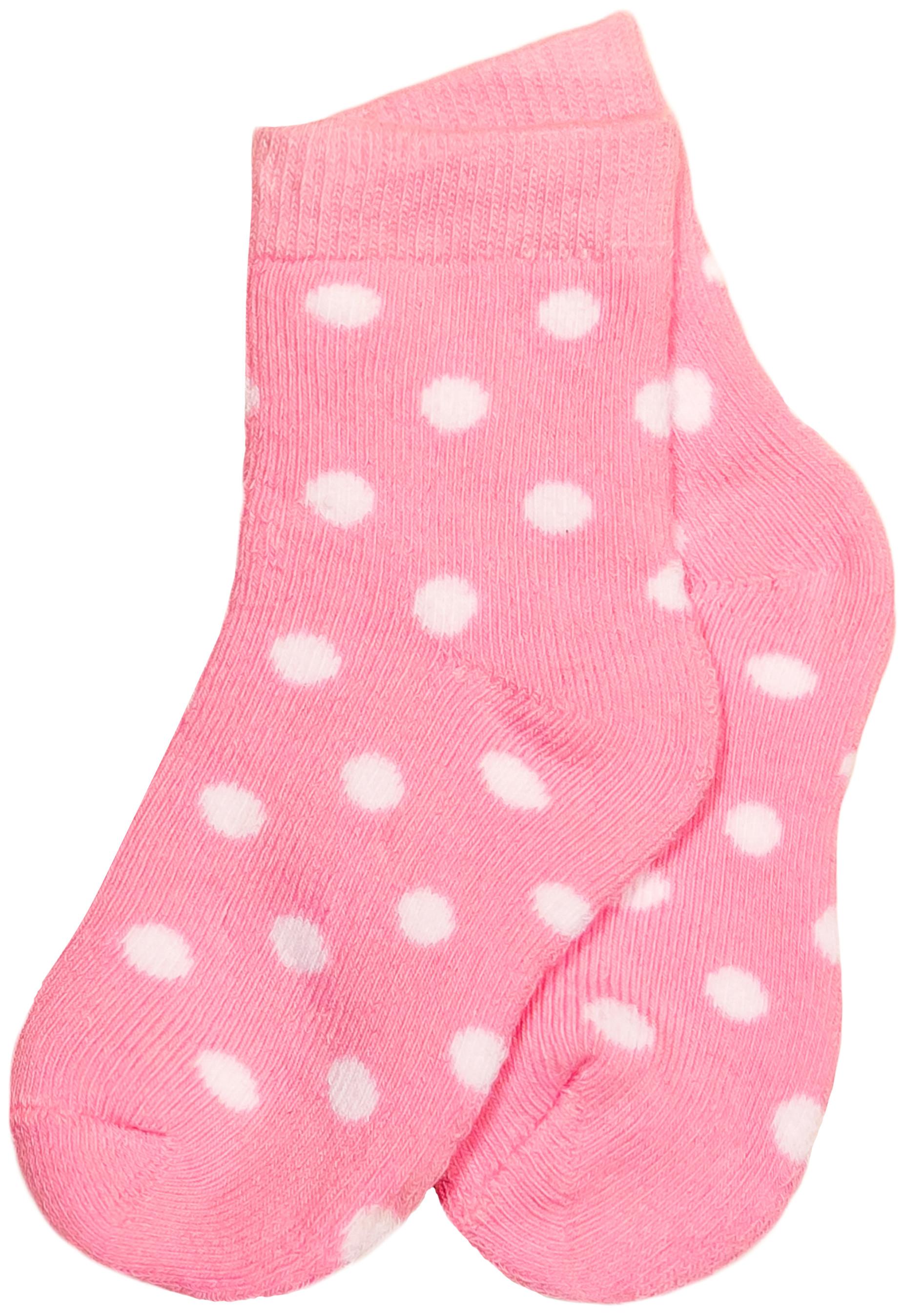 Носки Barkito Носки махровые для девочки Barkito, розовые с рисунком в горошек носки махровые для мальчика barkito белые с рисунком