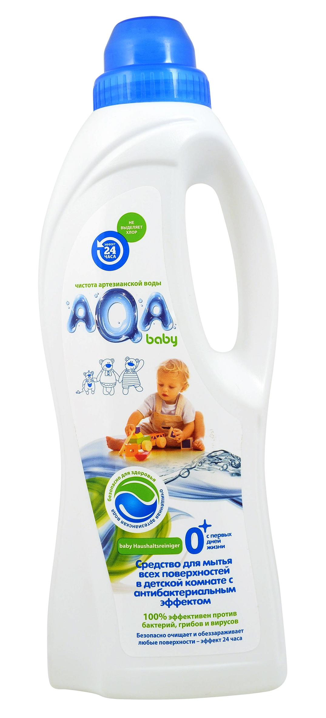 Средство для мытья всех поверхностей в детской комнате с антибактериальным эффектом AQA baby AQA baby 1 л