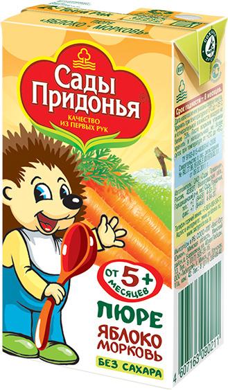 Пюре Сады Придонья Сады Придонья Яблоко, морковь (c 5 месяцев) 125 г