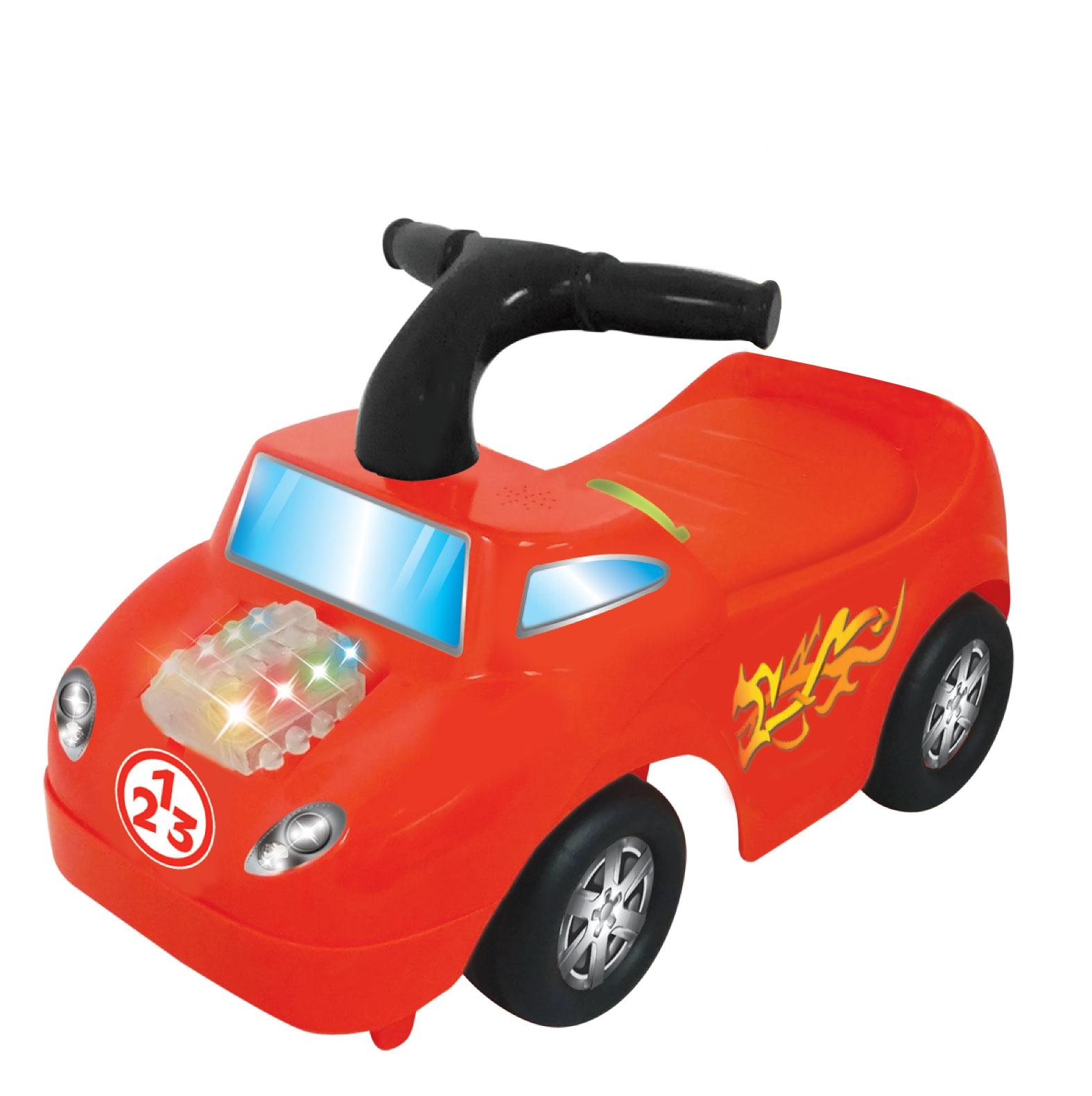 Машинки-каталки и ходунки KIDDIELAND Каталка-пушкар Kiddieland «Маленький гонщик» со светом и звуком tiptop спиннер экзотика клевер цвет радужный