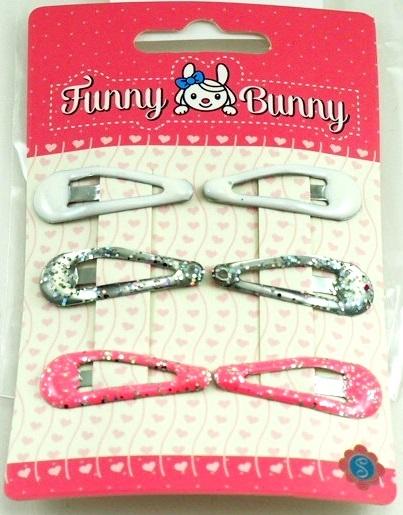 Невидимки Funny Bunny для волос 6 шт. невидимка для волос funny bunny розовые цветы 2 шт