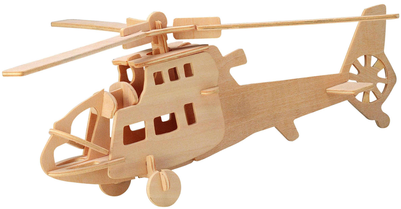 Деревянные игрушки Wooden Toys Сборная модель Wooden Toys «Боевой вертолет» деревянная